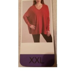 RXB Oversized Red Sweater NWT!